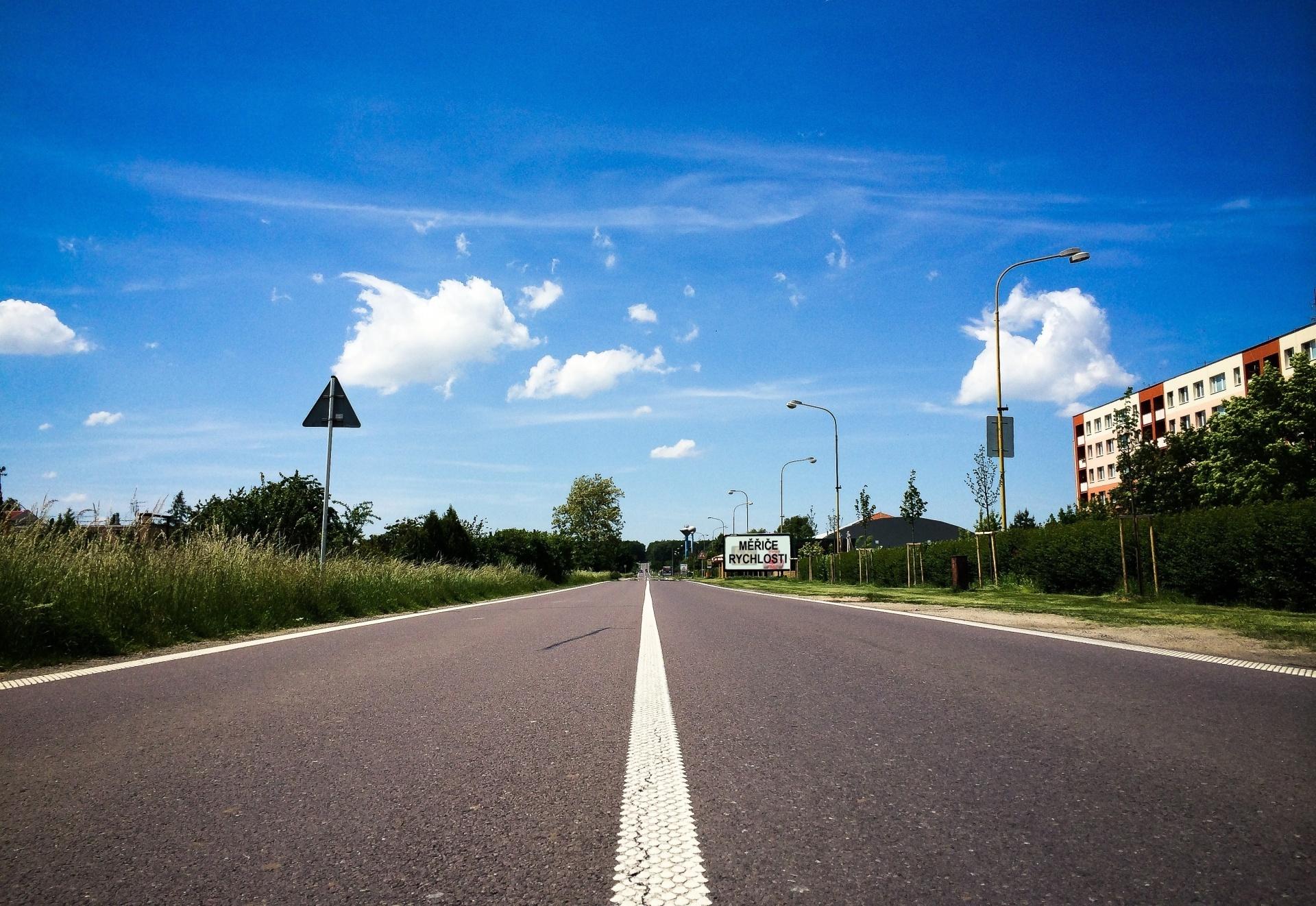 Slide české silnice