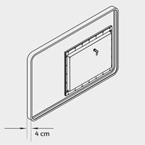Technický výkres produktu - ukazatel rychlosti GR33S okótovaný
